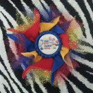 Bottlecap Flower Autism Awareness Puzzle Hair Bow ~ Free Shipping
