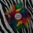Bottlecap Flower Autism Awareness Super Power Hair Bow ~ Free Shipping