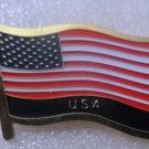USA Metal Brass Alloy Lapel Pin Country Flag Logo Soft Enamel Emblem Badge Button