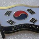 SOUTH KOREA Metal Brass Alloy Lapel Pin Country Flag Logo Soft Enamel Emblem Badge Button