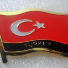 TURKEY Metal Brass Alloy Lapel Pin Country Flag Logo Soft Enamel Emblem Badge Button
