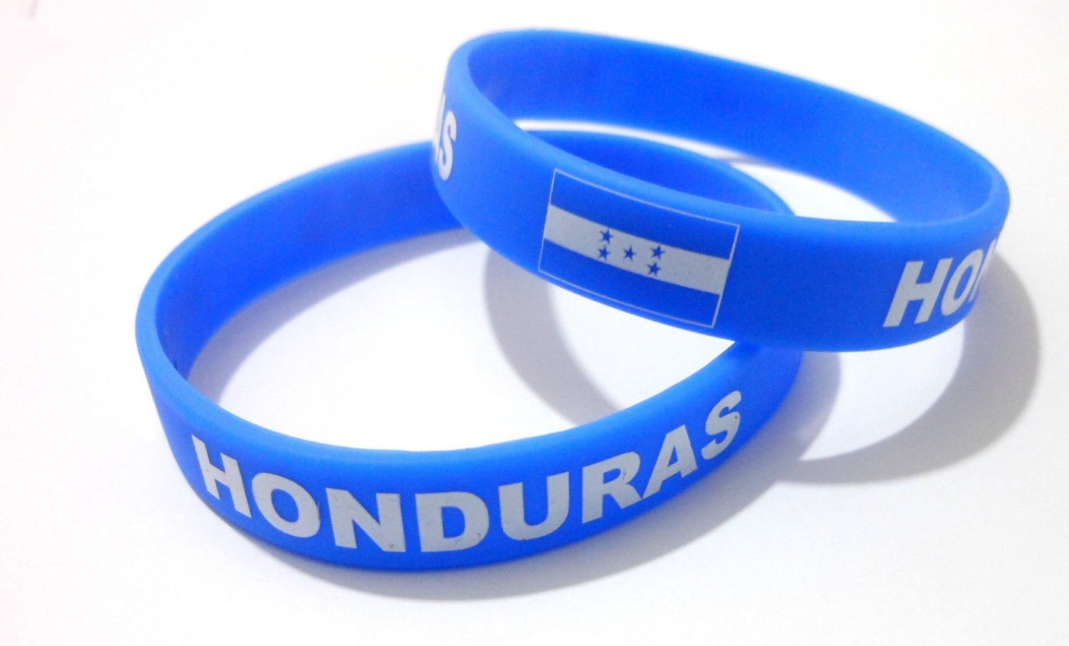 Honduras Country Flag Silicone Rubber Bracelet Sport Unisex Fashion Multi Color Wristband