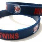 Minnesota Twins MLB Baseball Team Silicone Rubber Bracelet Sport Unisex Fashion Wristband