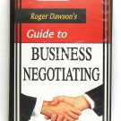 Roger Dawson's Guide to Business Negotiating (Roger Dawson) VHS Nightingale Cona