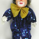 """Clown in Blue Sequence Outfit - Approx 12"""" Tall"""