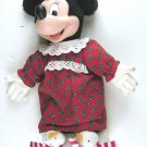 Winter Minnie Mouse in Snowman Slippers