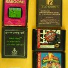 Five (5) Game Cartridge Lot - Activision KABOOM! - ATARI surround - Sears 112 Te
