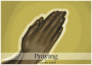 Praying eases the mind