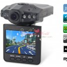 "2.5"" TFT LCD Screen Car Recorder with 6 LED Night Vision Lights (Black)"
