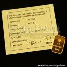 Gold Bullion Bar 4 gr 99.99%  with certificate