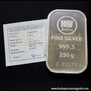 Silver Bar 250g Logam Mulia with Certificate