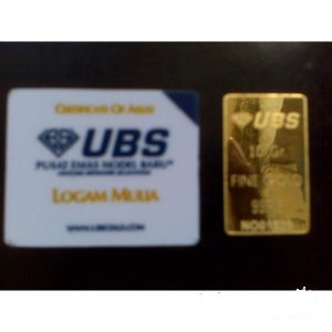 UBS Gold Bullion Bar  10 Gr 999.9% Certified