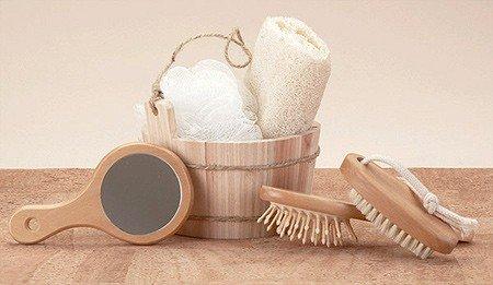 Rustic Bucket Bath Set - Lg