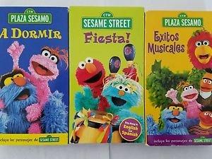 Plaza Sesamo 3 [ VHS] Exitos Musicales,A Dormir ,Fiesta!