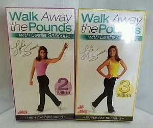 Walk Away the Pounds with Leslie Sansone (VHS, 2 Tape Set,2 Pack VHS