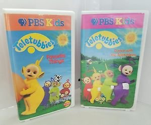 Teletubbies -2 Vhs  Favorite Things / Dance with Teletubbies(VHS, 1999)