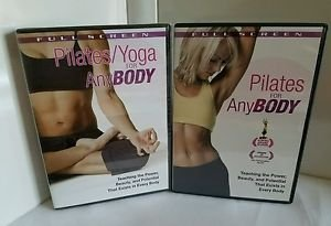 Pilates/ Yoga for Anybody (2 DVD, 2005) combo