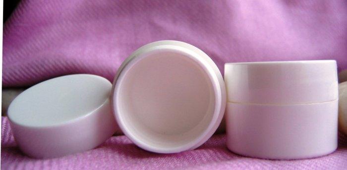 (100) 1/4 oz White double wall Pots w/ lids