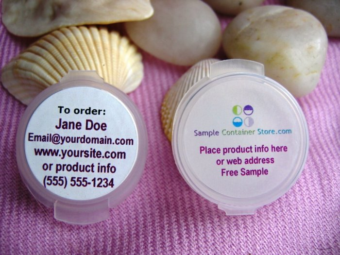 Sample Container & Label Kit (120) Containers (240) Custom Labels READ entire Listing
