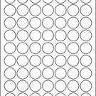"(63) 1"" Round Labels BLANK"