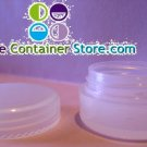 (100) 1/6 oz Natural Cosmetic Jar  w/ Cap