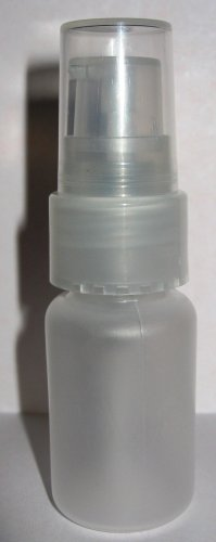 (20) 1/2 oz Frosted Plastic Bottle w/ Sprayer Atomizer