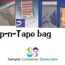 "(100) Polypropylene 2 ¾ ""X 3 ¾ "" Lip-n-Tape Bags Re-sealable"