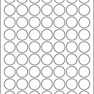 "(504) 1"" Round Labels BLANK"