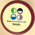 "(252) Weatherproof Laser Printed 1"" Round Labels Read entire listing for instructions"