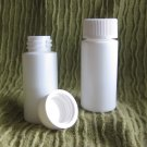 (100) 1/4 oz White Plastic Bottle w/ lined lid & Shrink Bands