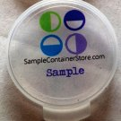 "(120) Crystal Clear Custom Laser Printed 1"" Round Labels Read entire listing for instructions"