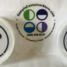 "(24) 1.67"" Crystal Clear Custom Printed Laser Labels for 1 oz Round Sample Container READ listing"