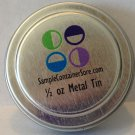 "(96) 1.2"" Crystal Clear Custom Laser Labels for 1/4 oz Sample Containers Read entire listing"
