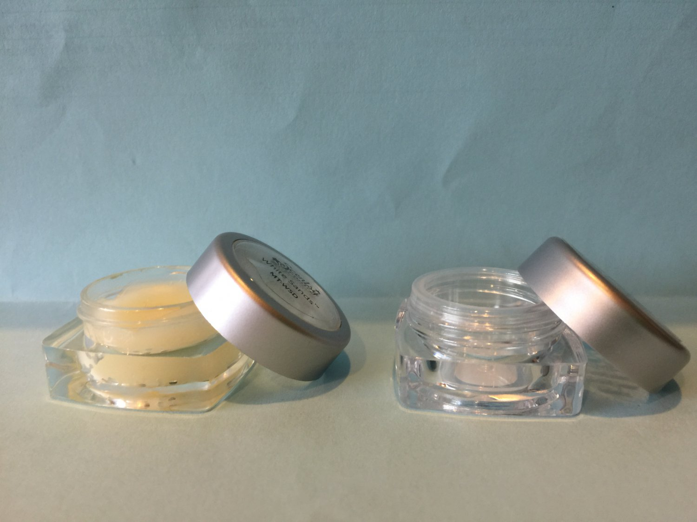 Custom printed set 60 5ml cosmetic screw cap acrylic jar for Custom cosmetic jars
