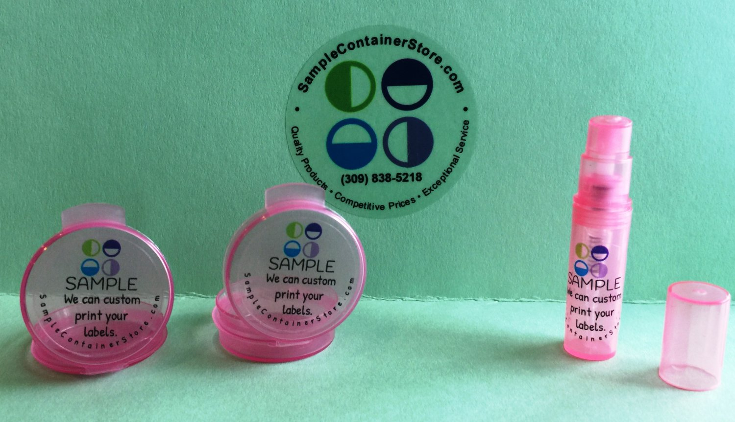 63 - PINK Sample Container KIT w/ Preprinted labels for each container READ for instructions