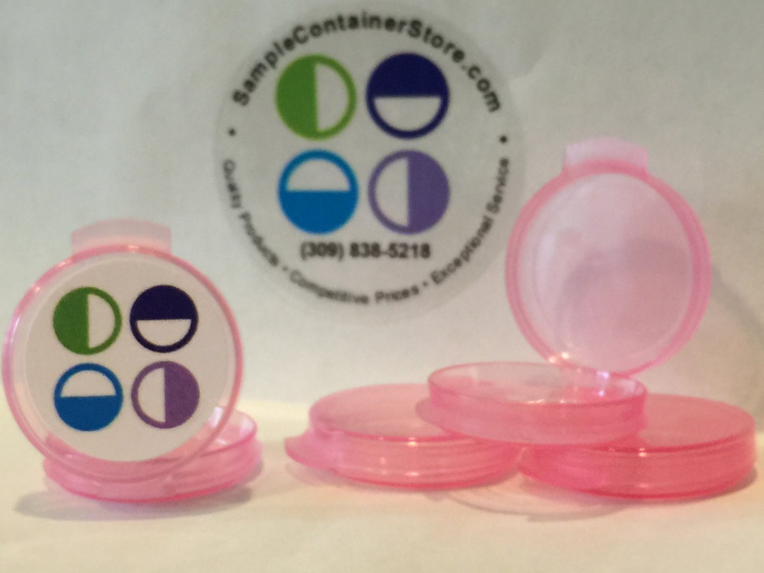 (200) 1/20 oz Pink Sample Containers