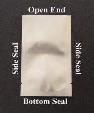 100 - Small Silver Aluminum Sample Pouches- Heat Sealable w/ Transfer Pipette