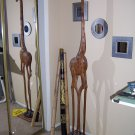 Wooden Giraffe Sculpture