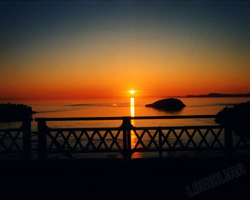 Summer Sunset - Deception Pass Bridge, WA- 8x10 - Original Fine Art Photograph - FREE SHIPPING