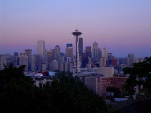 Seattle at Dusk - Seattle, WA - 8x10 - Original Fine Art Photograph - FREE SHIPPING