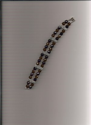 Amethyst and Green Bracelet  B40007916