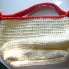 Red and White Purse
