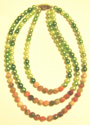 3 Strand Pink and Green