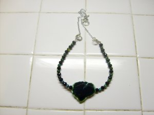 Blue Green Chunky Necklace