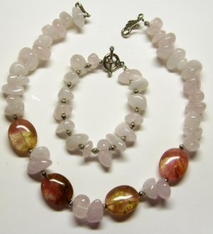 Pale Pink Tourmaline Set