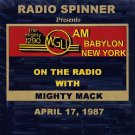 MIGHTY MACK RADIO SHOW WGLI 1290 AM BABYLON 4-17-87