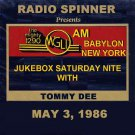 TOMMY DEE WGLI 1290 AM BABYLON LONG ISLAND DOO WOP AIRCHECK 5-3-1986