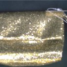 NEIMAN MARCUS Gold Glitter Sparkle Clutch Purse Handbag