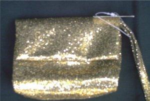 NEIMAN MARCUS Gold Glitter Sparkle Clutch Purse Handbag