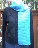 Handmade Turquoise Blue Shimmer Crochet FASHIONABLE SCARF